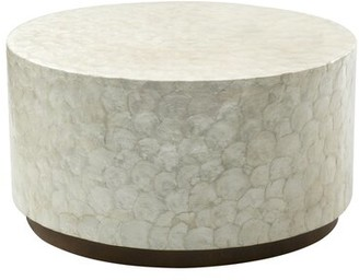 Beachcrest Home Dalvey Solid Wood Drum Coffee Table