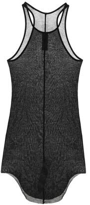 Rick Owens Forever Basic silk-blend mesh tank top