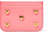 Sophie Hulme Rosebery Embellished Leather Cardholder - Pink