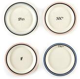 Twos Company Two's Company Two&s Company White Absinthe Bistro Saucers - Set of 4