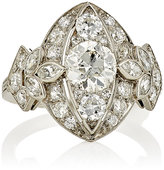 Stephanie Windsor Antiques Women's White Diamond & Platinum Ring