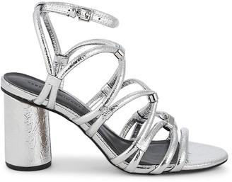 Rebecca Minkoff Apolline Metallic Strappy Slingback Sandals