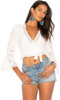 Spell & The Gypsy Collective Damsel Lace Top in White. - size Aus 10/US M (also in Aus 12/US L,Aus 6/US XS,Aus 8/US S)
