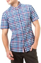7 Diamonds Men's Unforgettable Check Woven Shirt