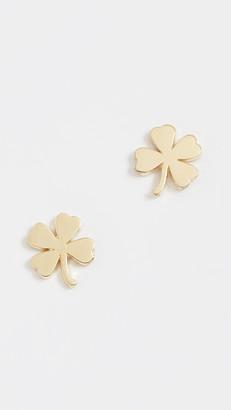 Jennifer Meyer 18k Gold Mini Clover Stud Earrings
