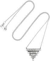 Ileana Makri Pyramid 18-karat White Gold Diamond Necklace