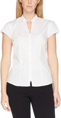 Kustom Kit Women's Mandarin Collar Cap Sleeve Blouse