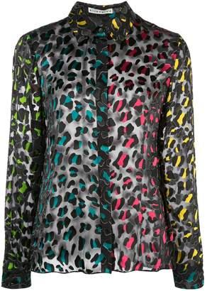 Alice + Olivia Sheer Leopard Print Shirt