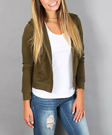 Ambiance Olive French Terry Hooded Jacket