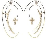 Charlotte Russe Cross Ear Crawler & Stud Earrings Set