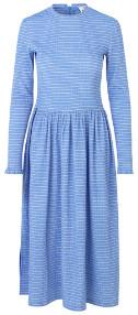 Mads Norgaard Flexi Pop Docca Dress - Blue/White - Size 40 (UK 14)