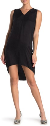 Frnch High/Low V-neck Sleeveless Dress
