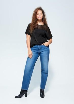 MANGO Combined plumeti blouse
