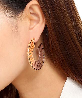 Amrita Singh Women's Earrings Coral/Multi - Orange Ombre Wrap Three-Quarter Circle Earrings