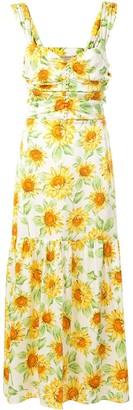 Bec & Bridge Francine floral-print midi dress