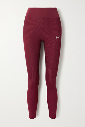 Nike Epic Luxe Textured Dri-fit Leggings - Claret