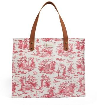 Harrods Toile Grocery Shopper Bag