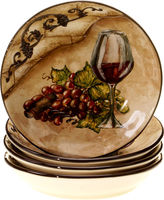 Certified International Tuscan View Set of 4 Soup Bowls