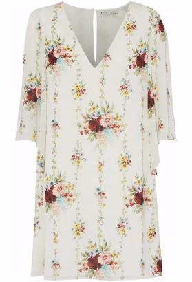 Alice + Olivia Shary Floral-print Crepe Mini Dress