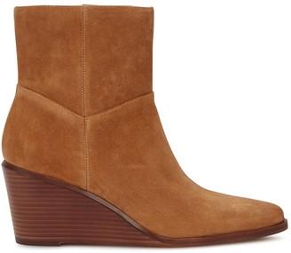 Vince Mavis 75 brown suede ankle boots