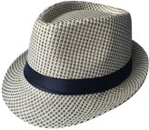 ACVIP Men's Blend Color Straw Weave Fedora Trilby Hat