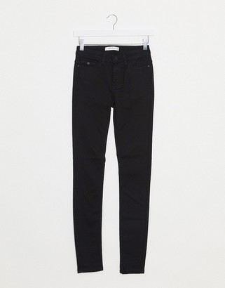 JDY jake regular skinny jeans in black denim