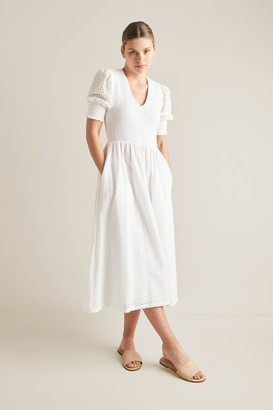 Seed Heritage Embroidered Shirred Dress