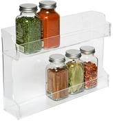 Container Store Double Acrylic Spice Rack