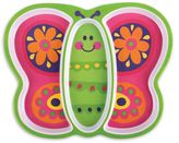Stephen Joseph Melamine Butterfly Tray in Pink