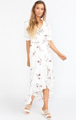 Show Me Your Mumu Evermore Ruffle Wrap Dress