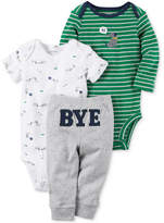 Carter's 3-Pc. Cotton Hi Bye Puppy Bodysuits and Pants Set, Baby Boys (0-24 months)
