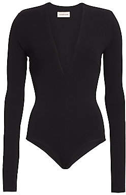 Alexandre Vauthier Women's Long-Sleeve Structure Bodysuit