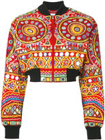 Moschino mirror embroidered bomber jacket - women - Cotton/Polyester/Rayon - 40