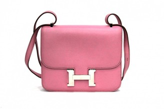 Hermes Constance Pink Leather Handbags