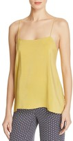 Theory Vanissa Draped-Back Silk Camisole Top