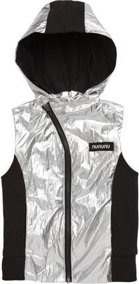 Nununu Duo Nylon Metallic Hooded Vest