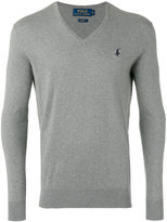Polo Ralph Lauren v-neck sweater - men - Cotton/Cashmere - M