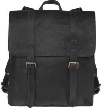 Vida Vida Wandering Soul Black Leather Backpack