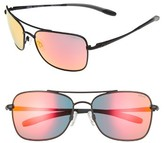 Revo Men's Territory 60Mm Sunglasses - Black/ Solar Orange