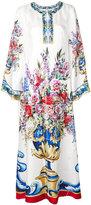 Dolce & Gabbana Majolica print kaftan dress