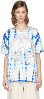 Acne Studios Blue Tie-dye Peace T-shirt