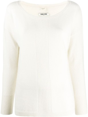 Max & Moi Ribbed-Centre Sweater