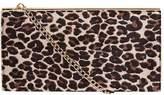 Leopard Structured Clutch Bag