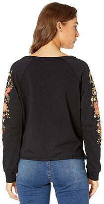 Rock and Roll Cowgirl Raglan Top with Floral Puff Print 48T6266