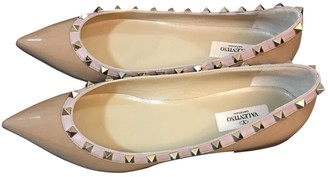Valentino Rockstud Ecru Patent leather Ballet flats