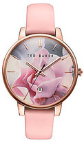 Ted Baker Kate Iconic Floral Analog & Date Leather-Strap Watch