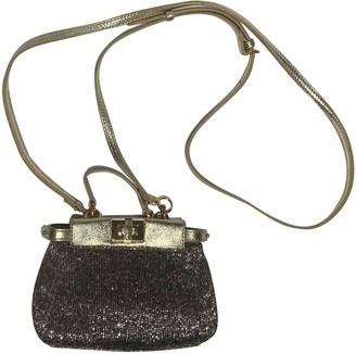 Fendi Peekaboo mini pocket Metallic Leather Handbags