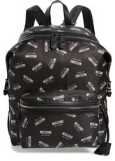 Moschino Allover Logo Print Backpack