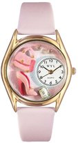 Whimsical Watches Women's C1010007 Classic Gold Shopper Mom Pink Leather And Goldtone Watch