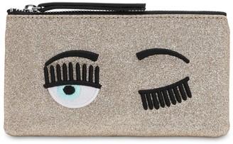 Chiara Ferragni Flirting Eye Glittered Pochette